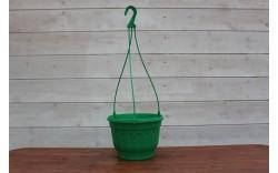 Кашпо с блюдцем комплект 3,7 л (зеленый)