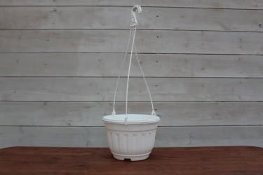 Кашпо с переливом комплект 3,7 л (белый)